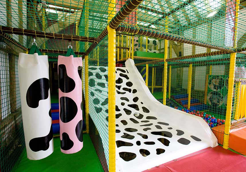 Fun soft play area with slide