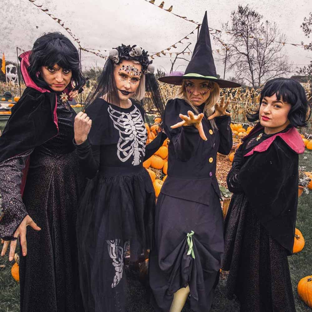 Witches casting a spell