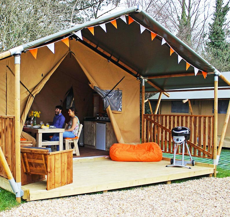 Glamping at Lee Valley Animal Adventure Park